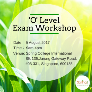 O level workshop exam