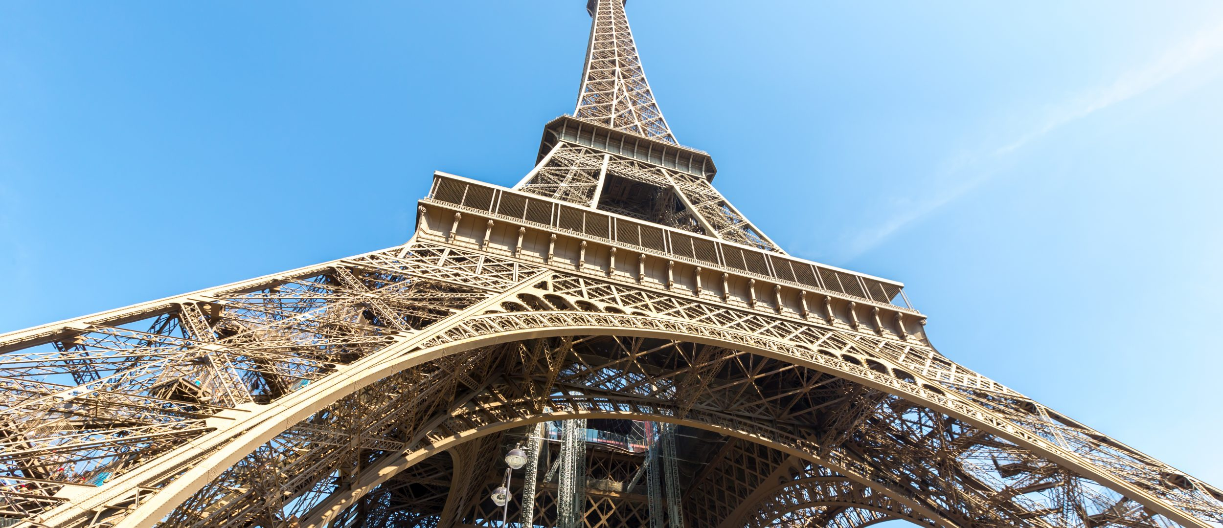 Eiffel Tower with blue sky summer, Paris France
